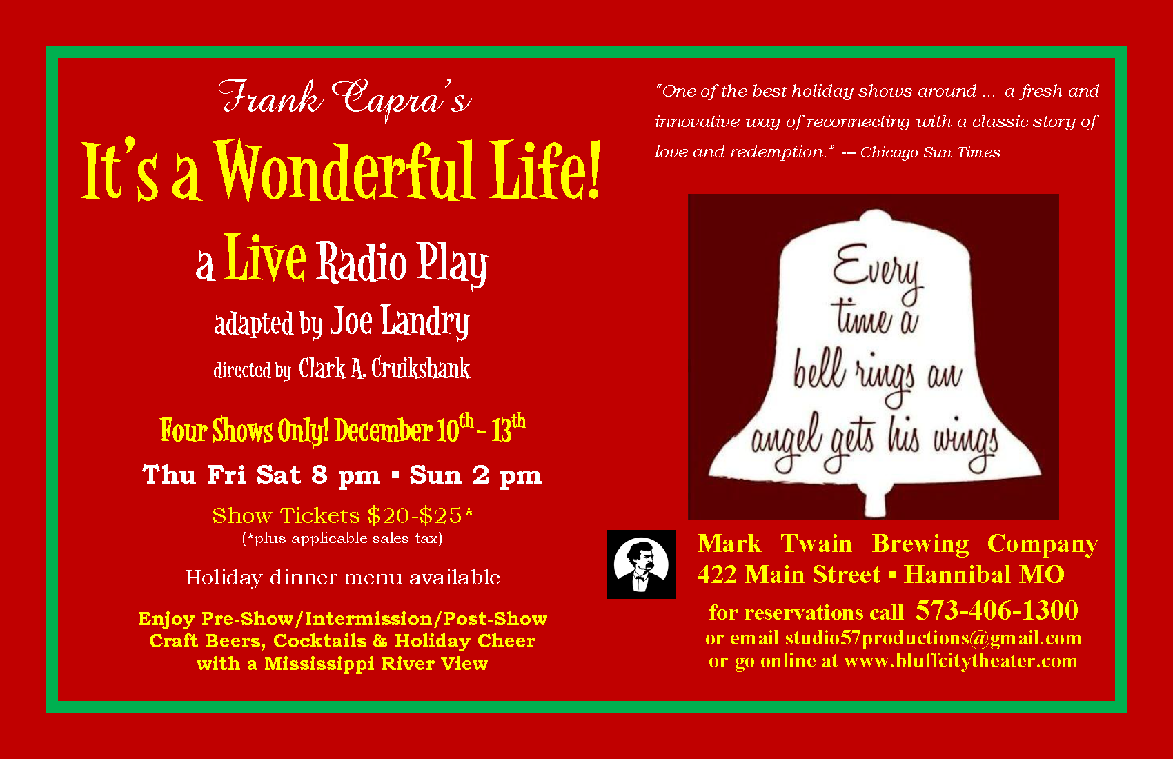 It 39 S A Wonderful Life Now You Can Buy Tickets Here Bluff City Theater